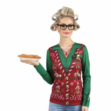 Kersttrui opdruk damesshirt