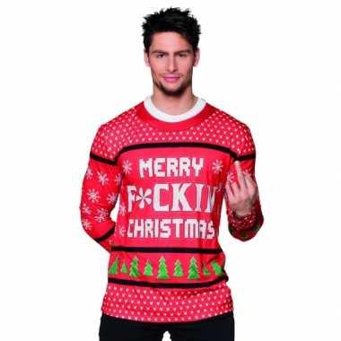 Foute Kersttrui Dames Goedkoop.Kersttrui Opdruk Herenshirt Rood Goedkope T Shirts Nl
