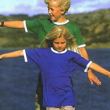 Kinder t-shirt contrast