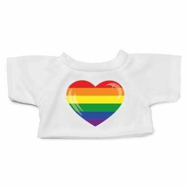 Knuffel kleding gaypride hart shirt m clothies knuffel