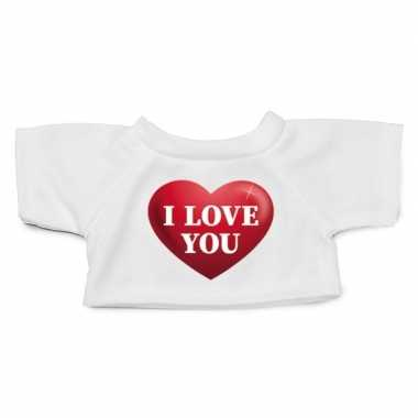 Knuffel kleding i love you hart shirt xl clothies knuffel