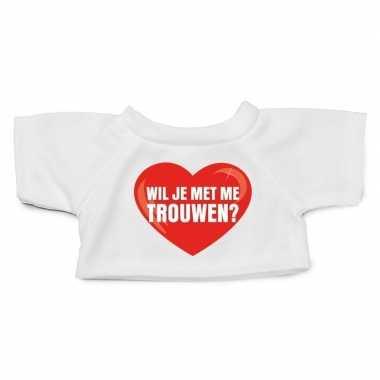 Knuffel kleding wil je trouwen shirt xl clothies knuffel