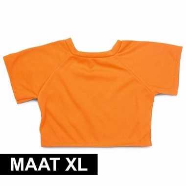 Knuffel kleertjes oranje shirt xl clothies knuffel