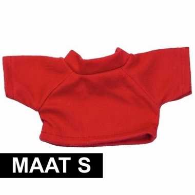 Knuffel kleertjes rood shirt s clothies knuffel 10 bij 8