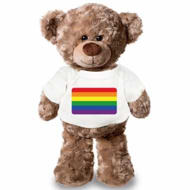 Knuffel teddybeer gaypride vlag t shirt 43