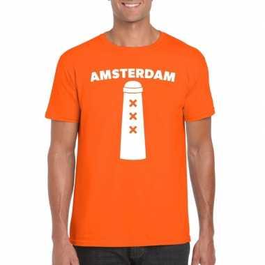 Koningsdag amsterdam shirt amsterdammertje oranje heren