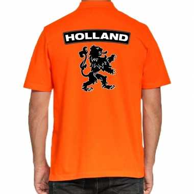 Koningsdag poloshirt holland grote leeuw oranje heren