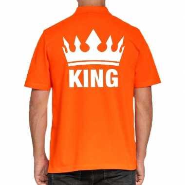 Koningsdag poloshirt king oranje heren