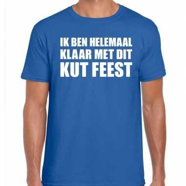 Kut feest shirt blauw heren