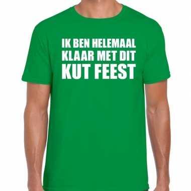 Kut feest shirt groen heren