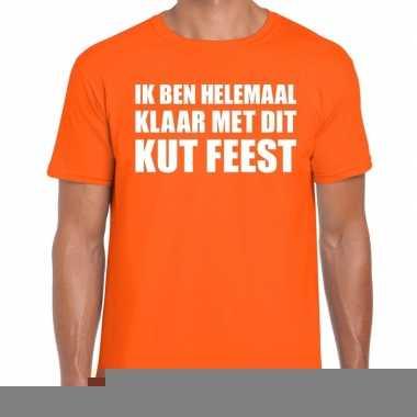 Kut feest shirt oranje heren