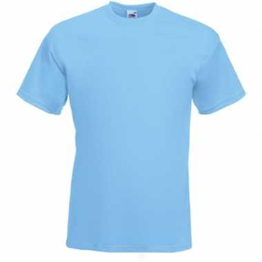 Licht blauwe t shirts korte mouwen heren