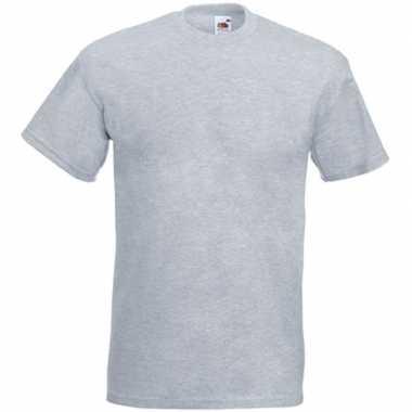 Licht grijze t shirts korte mouwen heren