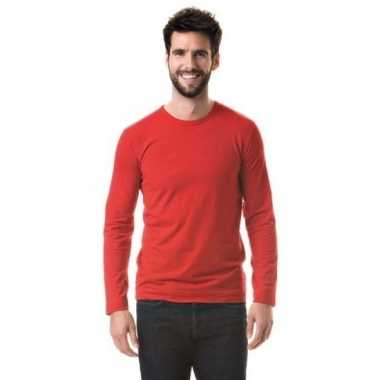 Longsleeves basic shirts rood mannen