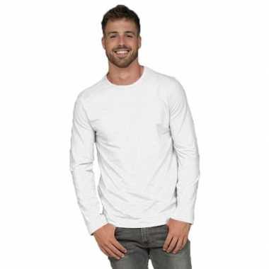 Longsleeves basic shirts wit mannen