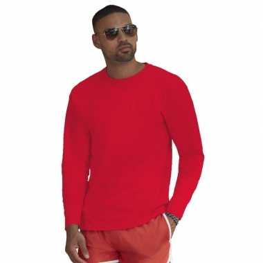 Longsleeves basic t shirts rood mannen