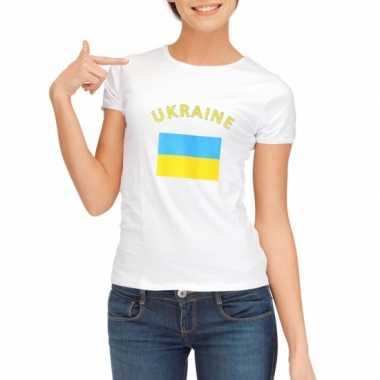 Oekraiens vlaggen t-shirt dames