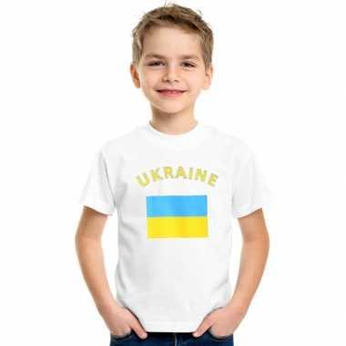 Oekraiense vlaggen t-shirts kinderen