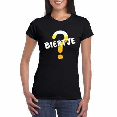 Oktoberfest biertje tekst t-shirt zwart dames