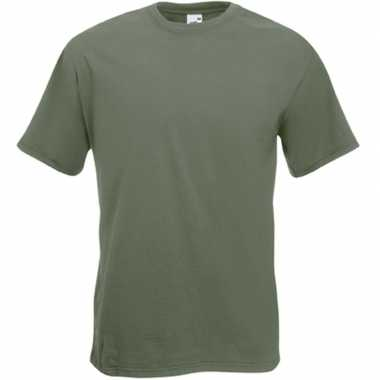 Olijf groene t shirts korte mouwen heren