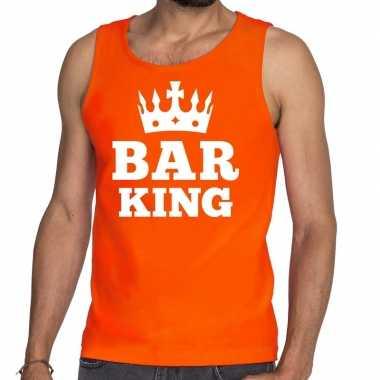 Oranje bar king tanktop / mouwloos shirt heren