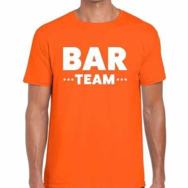 Oranje bar team shirt heren
