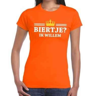 Oranje biertje ik willem shirt dames