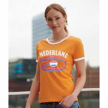 Oranje dames shirtje nederlandse vlag
