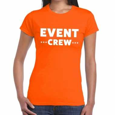 Oranje evenement shirt event crew bedrukking dames
