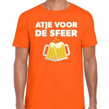 Oranje feest shirt atje sfeer bedrukking