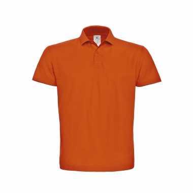 Oranje grote maten poloshirt / polo t shirt basic katoen heren