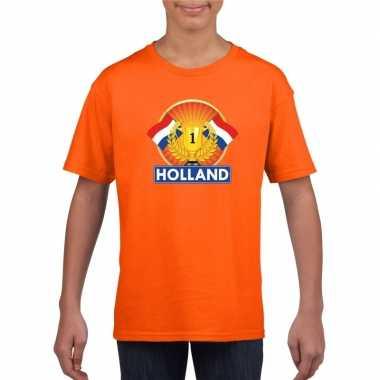 Oranje holland supporter kampioen shirt kinderen