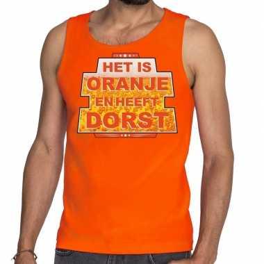 Oranje is oranje heeft dorst tanktop / mouwloos shirt her