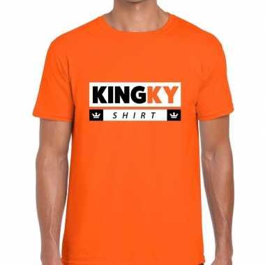 Oranje kingky t shirt heren