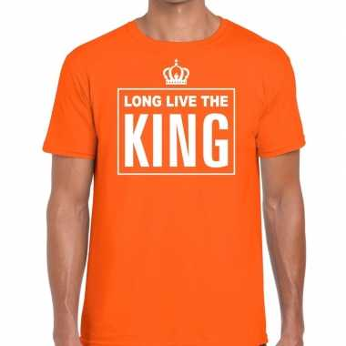 Oranje long live the king engels t shirt heren