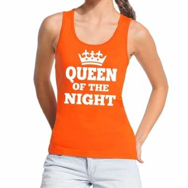 Oranje queen of the night tanktop / mouwloos shirt dames