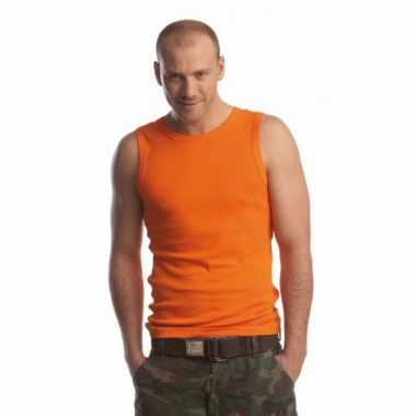 Oranje shirt heren
