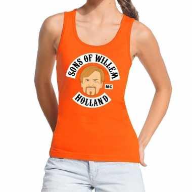 Oranje sons of willem tanktop / mouwloos shirt dames