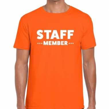 Oranje staff member shirt heren
