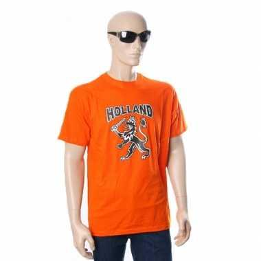 Oranje t-shirt hollandse leeuw