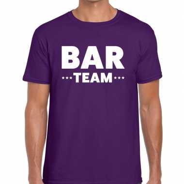 Paars bar team shirt heren