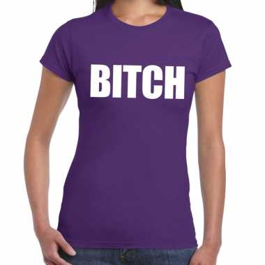 Paars bitch shirt dames
