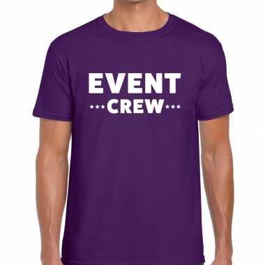 Paars event crew shirt heren