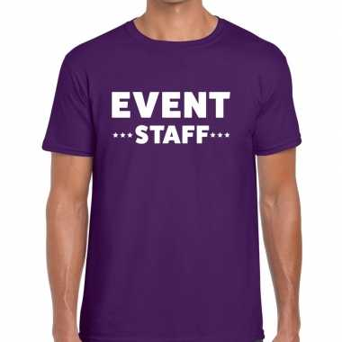 Paars event staff shirt heren