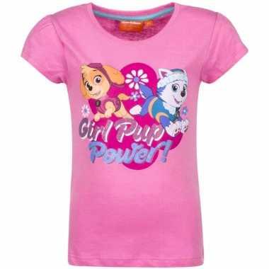 Paw patrol skye everest-shirt lichtroze