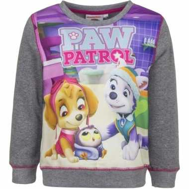 Paw patrol sweatshirt meisjes grijs