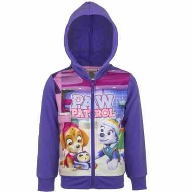Paw patrol sweatshirt meisjes paars