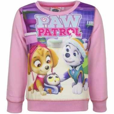 Paw patrol sweatshirt meisjes roze