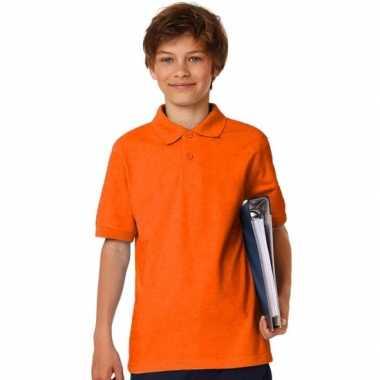 Polo shirts oranje jongens