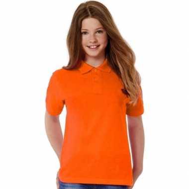 Polo shirts oranje meisjes